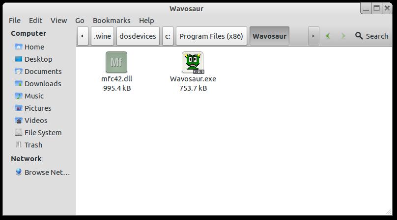 Wavosaur et mfc42.dll sous Linux